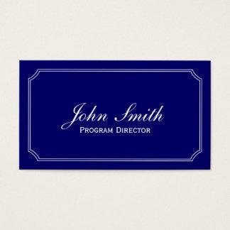 Classic Blue Program Director Business Card