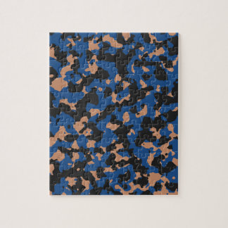 Classic Blue - Sandstone Camouflage Pattern Jigsaw Puzzle