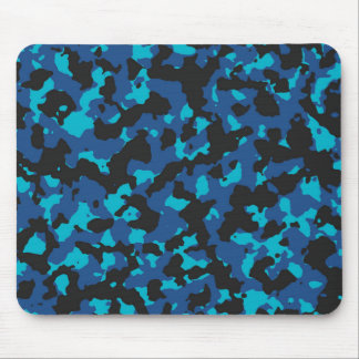 Classic Blue-Scuba Blue Camouflage Print PANTONE Mouse Pad