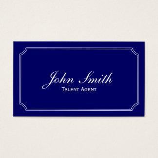 Classic Blue Talent Agent Business Card