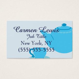 Classic Blue Teapot Business Card
