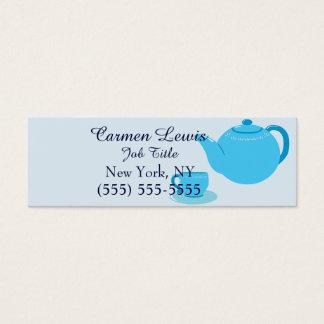 Classic Blue Teapot Mini Business Card