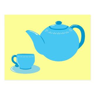 Classic Blue Teapot Postcard