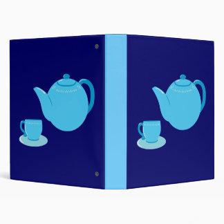 Classic Blue Teapot Vinyl Binder