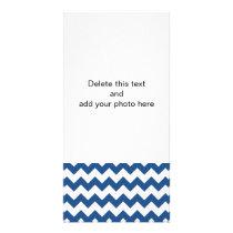 Classic Blue White Chevron Pattern Card