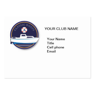 Classic Boat- Albin Large Business Cards (Pack Of 100)