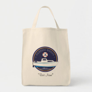 Classic Boats Albin 25 grocery tote Canvas Bags