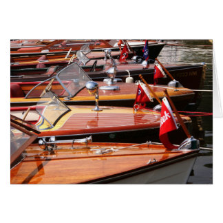 Classic Boats greeting card. Card