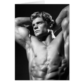 Classic Bodybuilder Notecard Greeting Cards