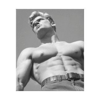 Classic Bodybuilder Photo Wrapped Canvas