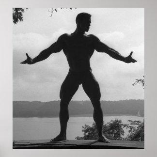 Classic Bodybuilding Pose Poster #10