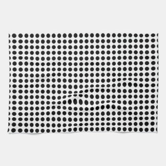 Classic Bold Modern Black and White Polka Dots Hand Towel