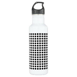 Classic Bold Modern Black and White Polka Dots Water Bottle