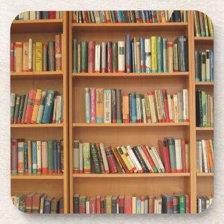 Classic book shelf pattern, bookcase,books,old coasters