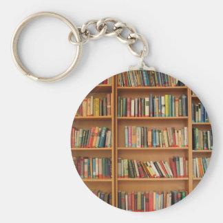 Classic book shelf pattern, bookcase,books,old keychain