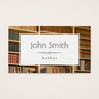 Classic Books & Bookshelves Author Business Card