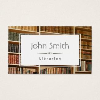 Classic Bookshelf Librarian Business Card