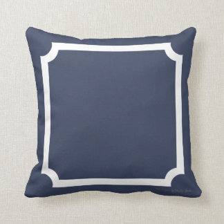 Classic Border Pillow in Nautical/White