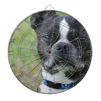 Classic Boston Terrier Dog Dart Board