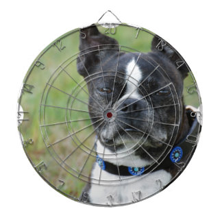 Classic Boston Terrier Dog Dartboard With Darts