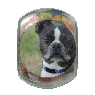 Classic Boston Terrier Dog Glass Jars
