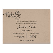 Classic Branch Wedding Rehearsal Dinner invite