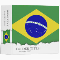 Classic Brazilian Flag Binder