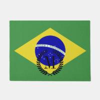 Classic Brazilian Flag Doormat