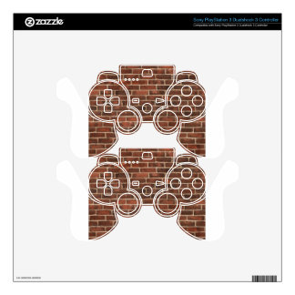 Classic Brickwall Print PS3 Controller Decals
