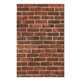 Classic Brickwall Print Stationery