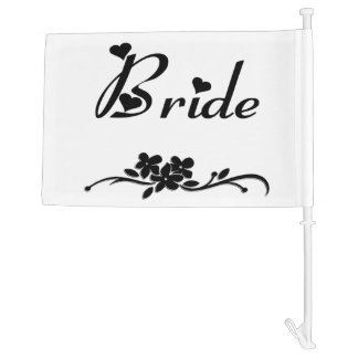 Classic Bride Car Flag