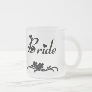 Classic Bride Frosted Glass Coffee Mug