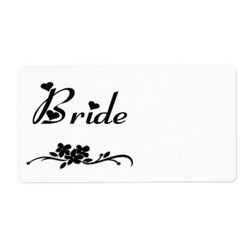 Classic Bride Label