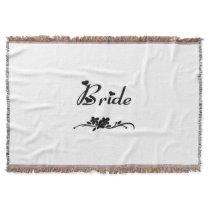 Classic Bride Throw Blanket