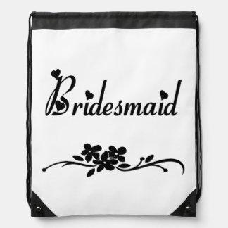 Classic Bridesmaid Drawstring Backpack