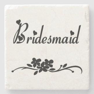 Classic Bridesmaid Stone Beverage Coaster
