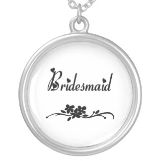 Classic Bridesmaid Silver Plated Necklace