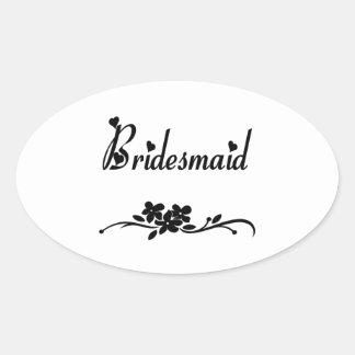 Classic Bridesmaid Stickers