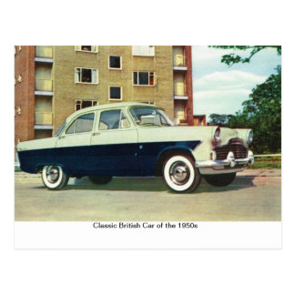 Classic British Car of the 1950s, Postcard