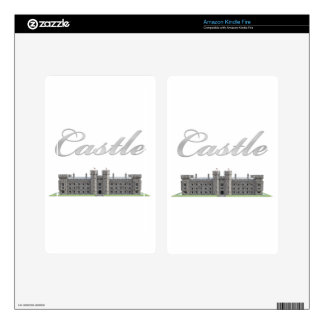 Classic British Castle with Castle Text Kindle Fire Skin