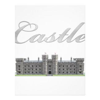 Classic British Castle with Castle Text Letterhead