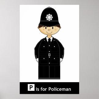 Classic British Policeman Poster