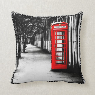 Classic British Red Phone Booth In London Throw Pillow