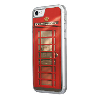 Classic British Red Telephone Box Carved iPhone 8/7 Case