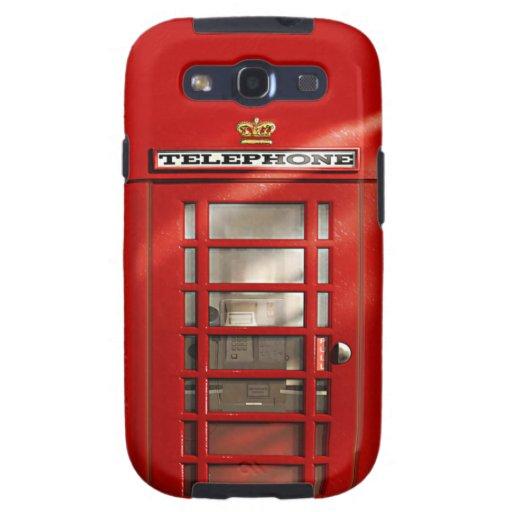 Classic British Red Telephone Box Samsung Galaxy SIII Cases