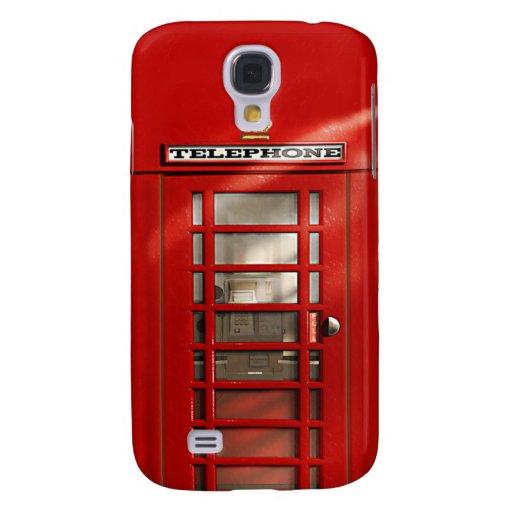 Classic British Red Telephone Box Galaxy S4 Cases