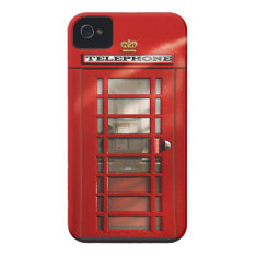 Classic British Red Telephone Box Iphone 4 Case at Zazzle