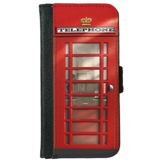 Classic British Red Telephone Box iPhone 6 Wallet Case
