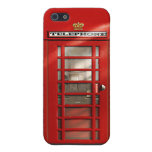 Classic British Red Telephone Box Cover For iPhone 5