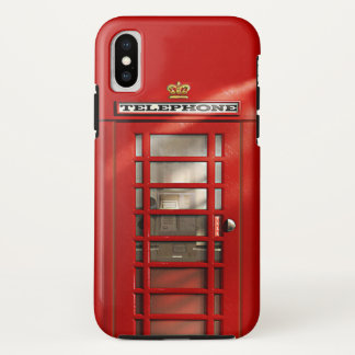 Classic British Red Telephone Box iPhone X Case